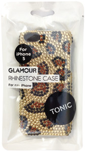 Tonic Pattererned Glamour Rhinestone Case For iPhone 5/5s - Leopard - TN0944CPGLA