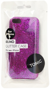 Tonic Bling Glitter Case For iPhone 5/5s - Purple - TN0943CPBLI
