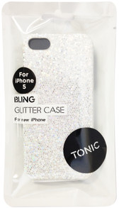 Tonic Bling Glitter Case For iPhone 5/5s - White - TN0942CPBLI