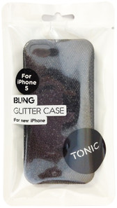 Tonic Bling Glitter Case For iPhone 5/5s - Black - TN0941CPBLI