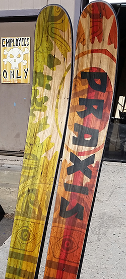 ambrosia-maple veneer skis with-screaming-bear-digitally stained graphic.jpg