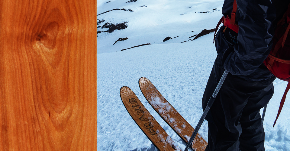 Free Wood Veneer on Praxis Skis