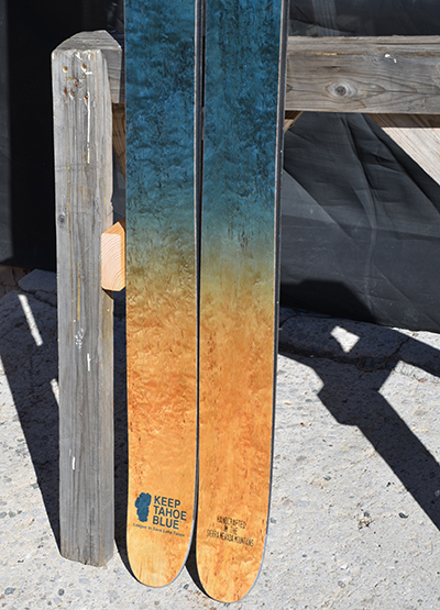 Keep Tahoe Blue Praxis Custom Skis