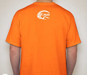 Praxis Skiercrafted T-shirt — Safety Orange