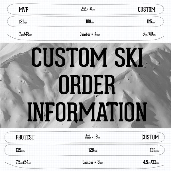Custom Ski Order Information