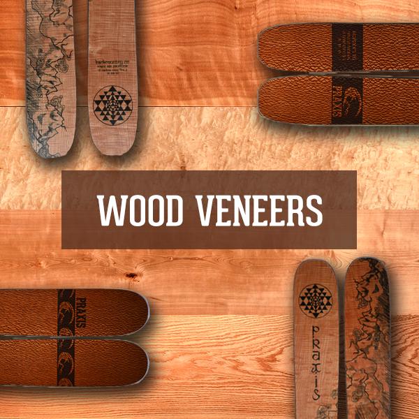 Custom Ski Wood Veneer options