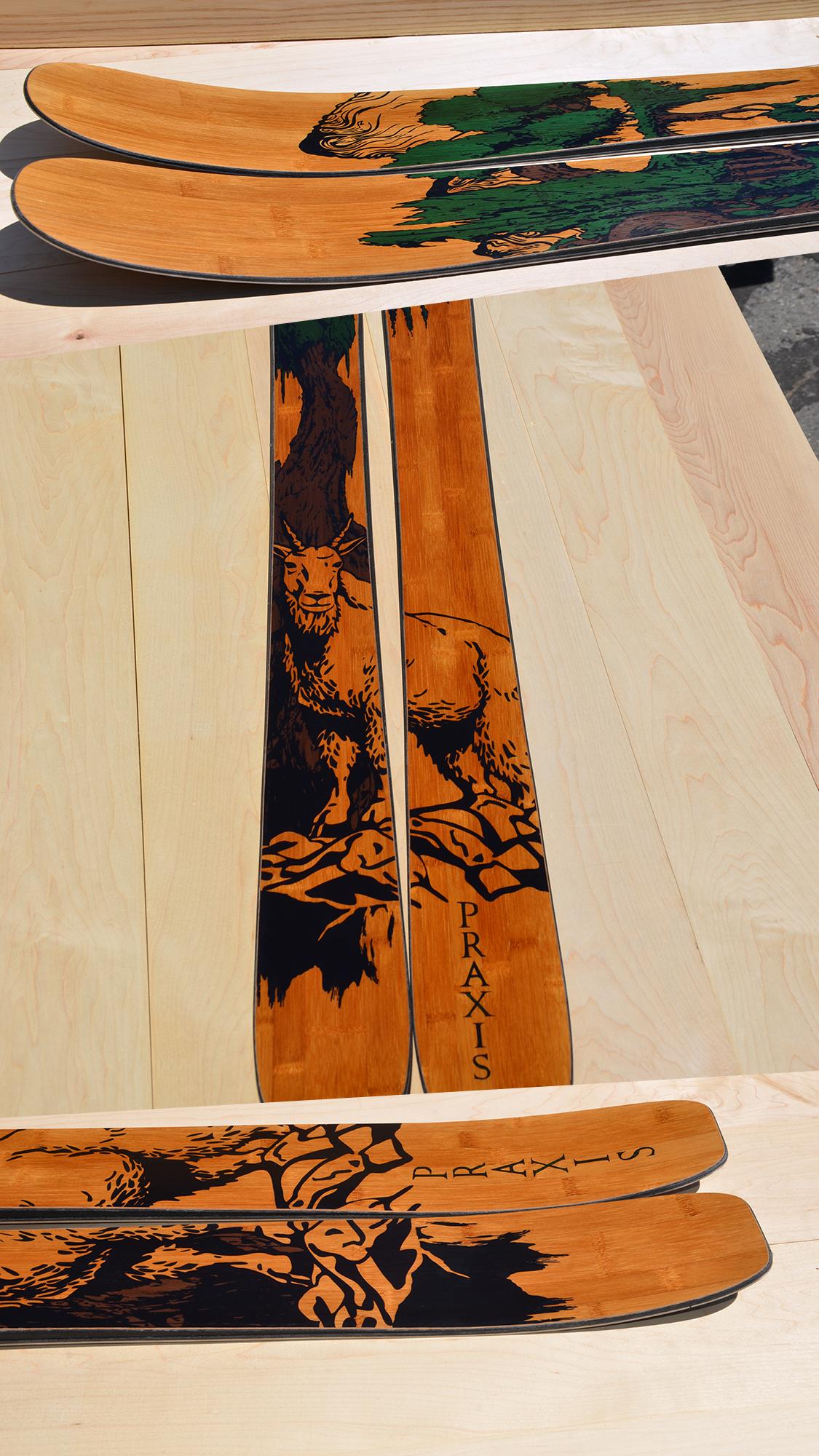 Standard edition Yeti with bamboo veneer and Ibex graphic art