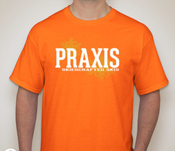 Praxis Skiercrafted T-shirt — Safety Orange