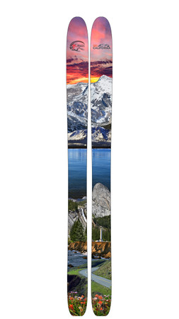 Ski California  Limited Edition Custom Ski