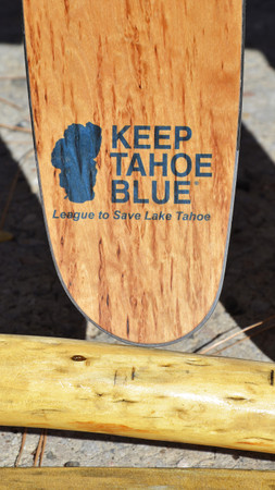 Keep Tahoe Blue Logo on Praxis Skis