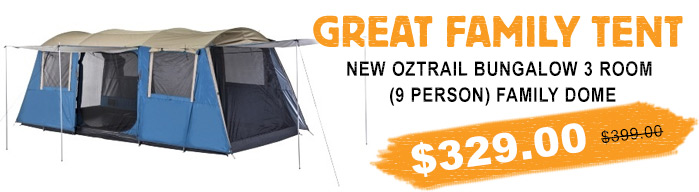 Oztrail Bungalow 9 Dome Tent: Camping Central Offers Best Camping Gear At Best Prices