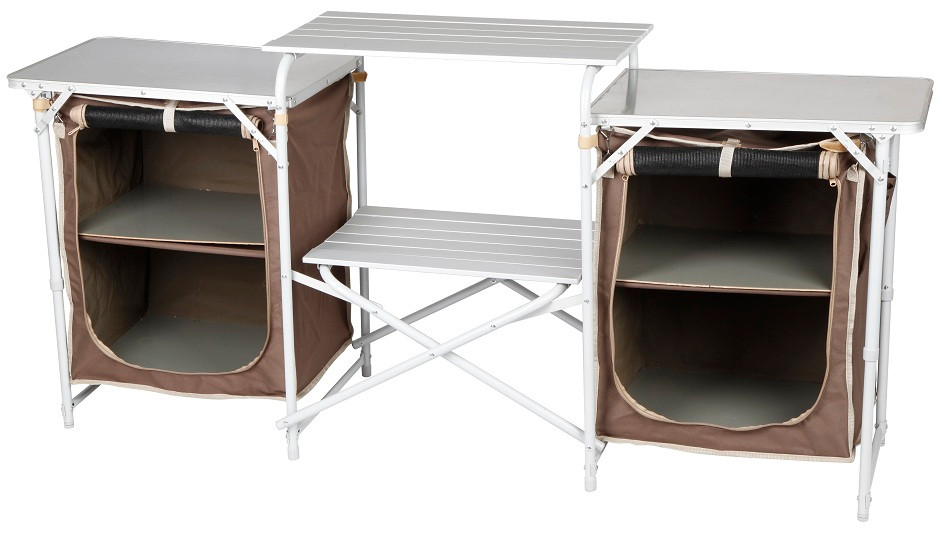 OZtrail Camping Camp Kitchen Double Pantry Table available at ...