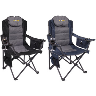 Oztrail Big Boy Folding Camping Picnic Arm Chair Pack 2