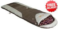 OZtrail Alpine View -12 Celcius Sleeping Bag - 220 x 80cm - (Color Brown & White)