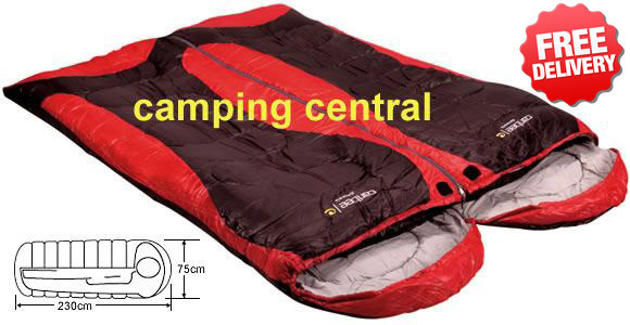 Caribee Genesis Duo +5 Celcius Twin Sleeping Bags - Angle View