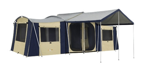 Oztrail Chateau 10 Canvas Cabin Family Tent Available At A