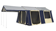 OZtrail 12 x 15 Canvas Cabin Family Tent -  But without the scenery