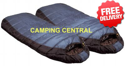 Caribee Tundra Duo -10 Celcius Winter Jumbo Twin Sleeping Bag - 2 pack (Angle View)