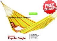 Brazilian Single Hammock Swing - 2.0 x 1.4m - With Free Shipping