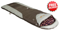 OZtrail Mountain View -7 Celcius Sleeping Bag - 220x80cm (Brown)