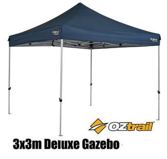 Assembled Oztrail Deluxe Gazebo