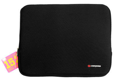 Caribee Digi 15 Inch Neoprene Laptop Cover Sleeve - Front View