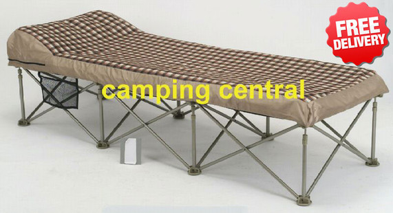 OZtrail Instant Camping Camp Portable Folding Air Bed - (Angle View)