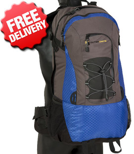 OZtrail Rhodes 50 Litre Backpack Travelpack Day Pack - Front View