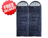 Caribee Glacial Bay Twin Duo Jumbo Sleeping Bag 0 Cel. (Top View)