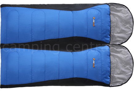 2 x OZtrail Blaxland Jumbo -5 Celcius - 240 x 90cm Sleeping Bag (Twin Pack)