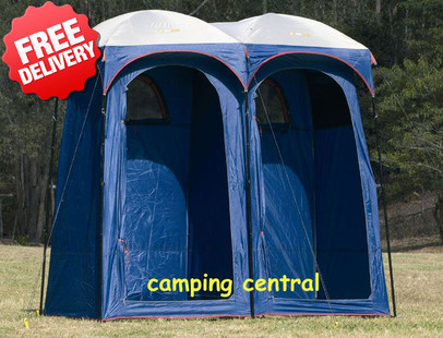 OZtrail Shower Tent Ensuite Duo Change Room Toilet - Front View