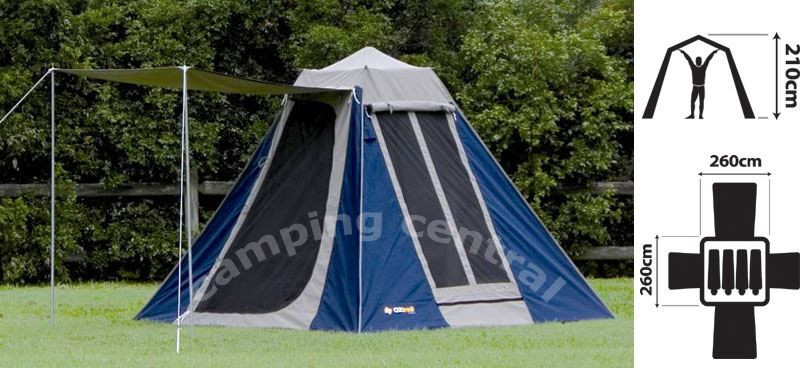 Oztrail Tourer 9 Canvas Touring Tent Available At A Great