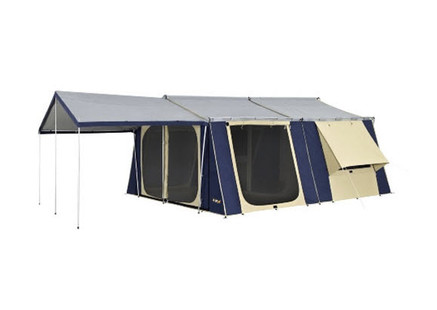 OZtrail 15 x 16 Canvas Cabin Tent - Angle View