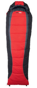 Black Wolf Lunar 400 Sleeping Bag (-10Cel.) Red - Top View