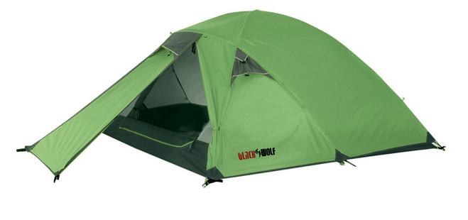 Black Wolf Hornet Geodesic Compact Hiking Tent (3 Person) - Angle View