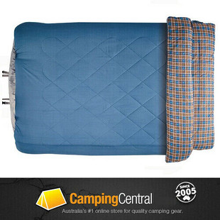 OZtrail Outback Comforter Double Sleeping Bag -5cel for two people