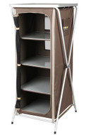 Oztrail 4-shelf hard-top instant camp storage cupboard
