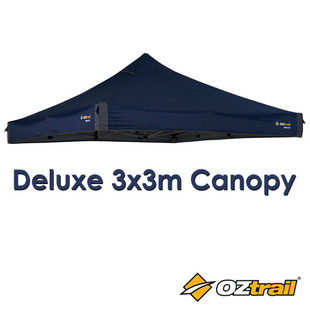 Oztrail Blue 3m Replacement Canopy for Deluxe Gazebo
