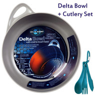 SEA TO SUMMIT DELTA BOWL + CUTLERY SET CAMPING PORTABLE LIGHTWEIGHT COMPACT