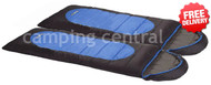 OZtrail Lawson Twin -5 Celcius Hooded Sleeping Bag - (Angle View)
