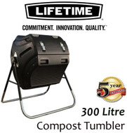 (SOLD OUT) LIFETIME 300L TUMBLER COMPOSTER COMPOST BIN (60058) RECYCLING FOOD WASTE