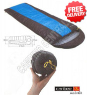 Caribee Plasma Hyperlite +12 Celcius Compact Sleeping Bag 700g - (Color:Blue & Black)