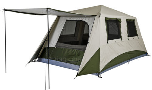 Image 1  sc 1 st  C&ing Central & OZTRAIL (2-ROOM) CABIN SWIFT PITCH TOURER INSTANT UP TENT POP UP ...