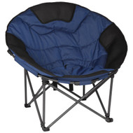 OZTRAIL MOON CHAIR (JUMBO) 150KG LIMIT OVAL ROUND CAMP OUTDOOR SEAT