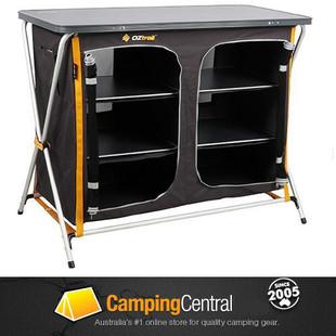Oztrail 3-Shelf Double hard-top instant camp storage cupboard