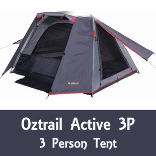 OZTRAIL ACTIVE 3P TENT - open awnings