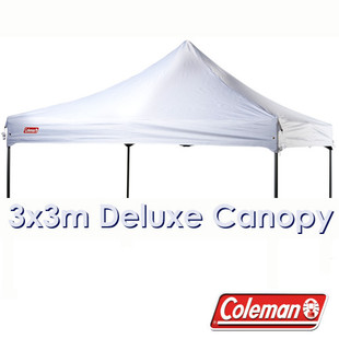 White 3x3m Replacement Canopy for Deluxe Gazebo