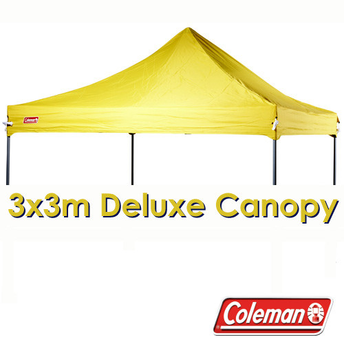 reputable site 732df c19d4 COLEMAN DELUXE 3x3 YELLOW GAZEBO CANOPY ROOF REPLACEMENT COVER TOP FITS 3M  OZTRAIL