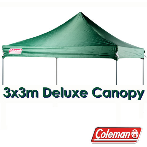 on sale 49a11 b49dd COLEMAN DELUXE 3x3 GREEN GAZEBO CANOPY ROOF REPLACEMENT COVER TOP FITS 3M  OZTRAIL