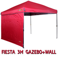 OZtrail Red Fiesta Gazebo and Wall